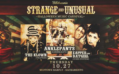 2016.10.27 – Strange and Unusual – Halloween Music Carnival w/ Anklepants, The Klown, Zapper & Datgi